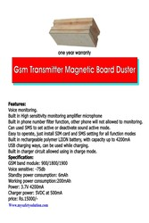 Magnetic Board Duster Transmitter