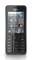 Nokia 301 Black  (Silver-66872)
