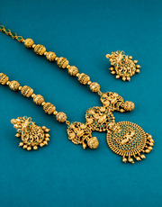 Get Discount on Purchase of Long necklace by Anuradha Art Jewellery