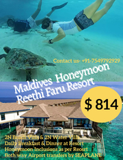 Maldives Honeymoon Package Family package